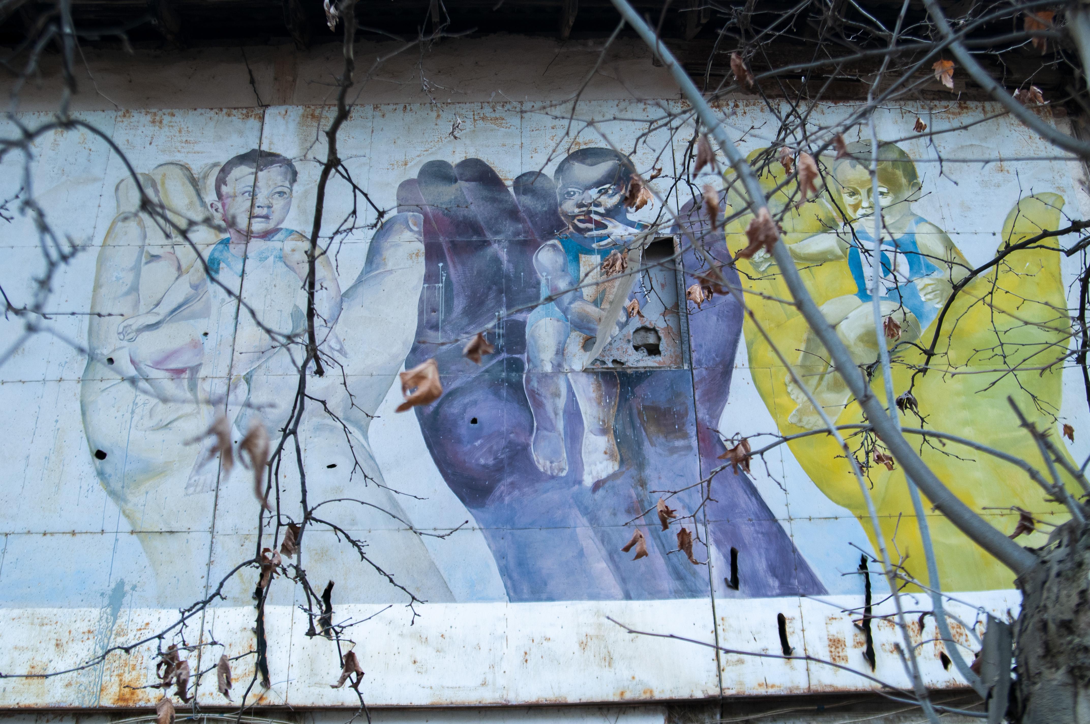 Soviet mural by pcg for avc