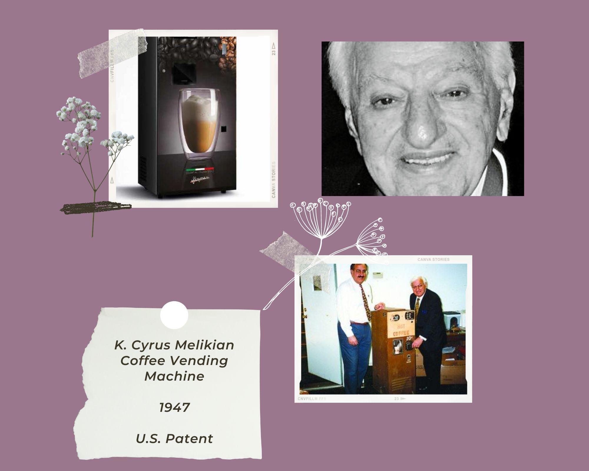 K. Cyrus Melikian coffee vending machine